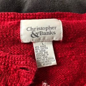 Christopher & Banks star cardigan size L